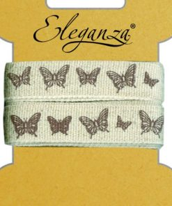 15mm Eleganza Craft Elegant Butterfly Ribbon