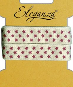 15mm Eleganza Craft Star Pattern Ribbon