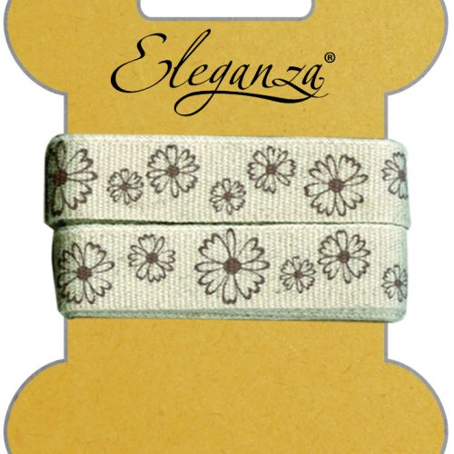 15mm Eleganza Craft Dappled Flowers Ribbon
