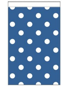 Paper Treat Bags True Blue Polka Dot