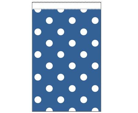 Paper Treat Bags True Blue Polka Dot