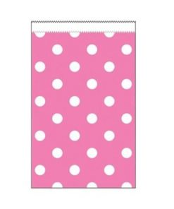 Paper Treat Bags Candy Pink Polka Dot