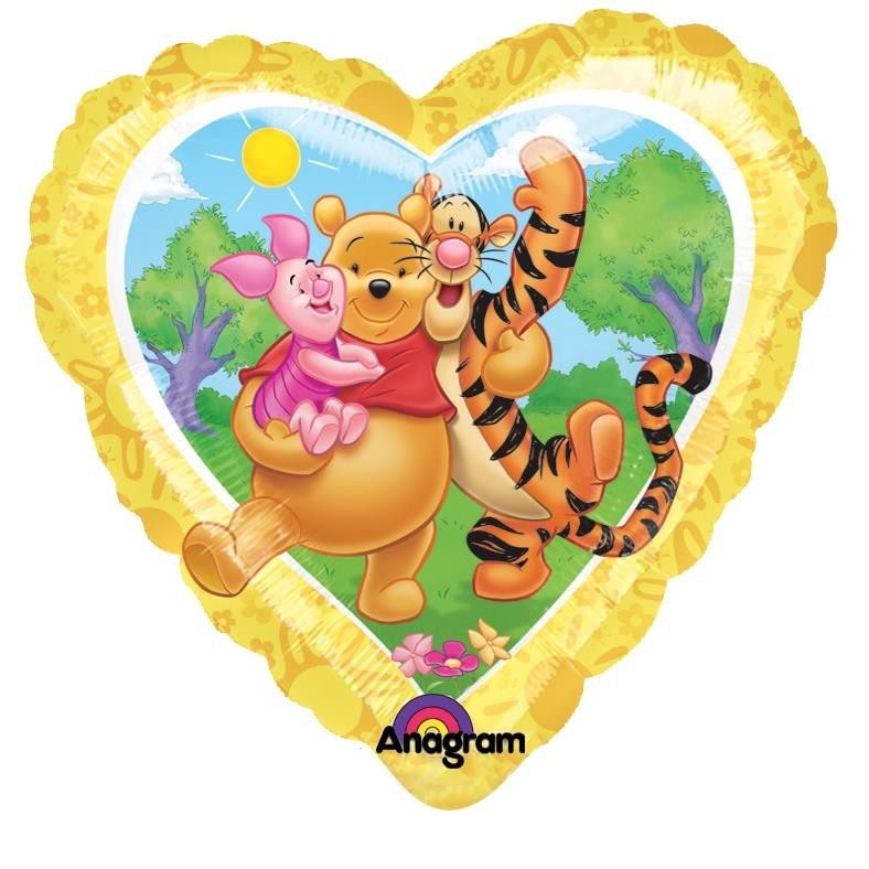 "18"" Pooh Sunny Heart Foil"