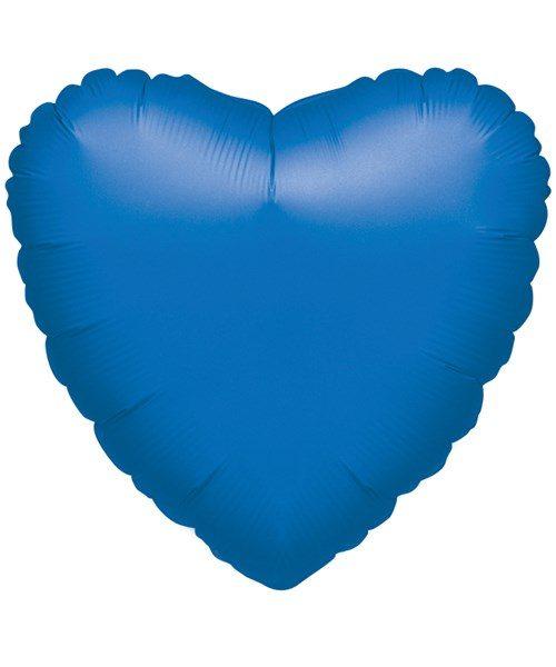 "18"" Metallic Blue Heart Foil"