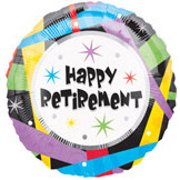 "18"" Graphic Happy Retirement Foil"