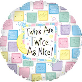"18"" Twins Are Twice as Nice Quilt Foil"