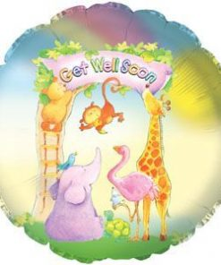 "18"" Get Well Soon Animals Foil"