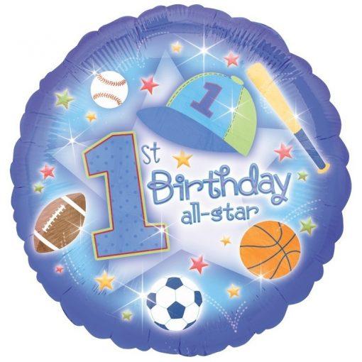 "18"" First Birthday All Star Foil"
