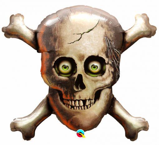"""32"""" Shape Skull and Cross Bones Foil"""
