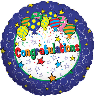 "18"" Congratulations Party Foil"
