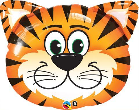 """30"""" Shape Tickled Tiger Foil"""