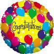 "18"" Congratulations Rainbow Foil"