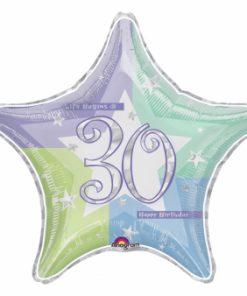 "19"" Birthday Shimmer 30th Prismatic Foil"