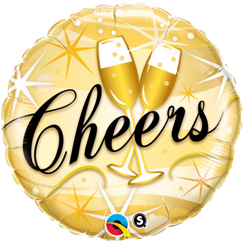 "18"" Cheers Starbursts Foil"