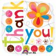"""18"""" Thank You Colourful Flowers Foil"""