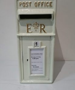 Ivory Metal Post Box