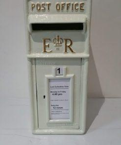 Ivory Metal Post Box