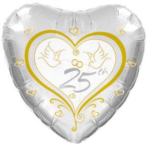 """17"""" 25th Anniversary Doves Foil"""