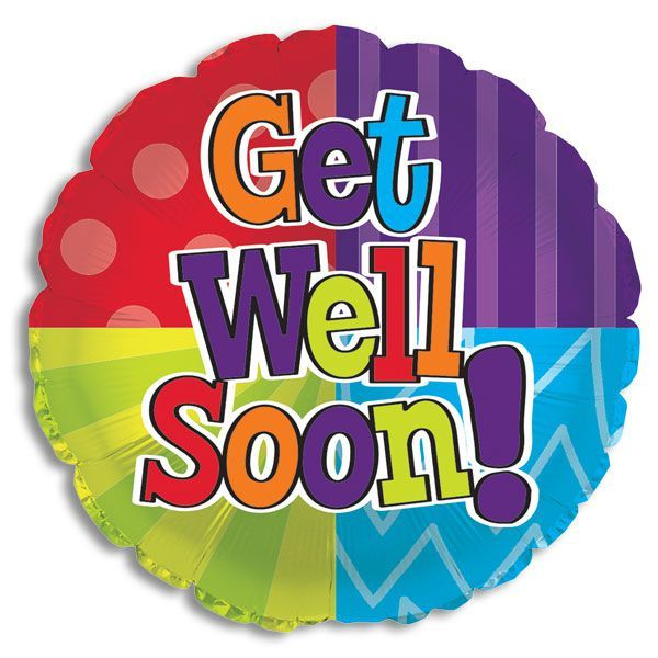 "18"" Get Well Soon Colour Blast Foil"