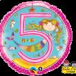 "18"" Rachel Ellen Age 5 Mermaid Polka Dots Foil"