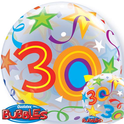 """22"""" 30 Brilliant Stars Single Bubble"""