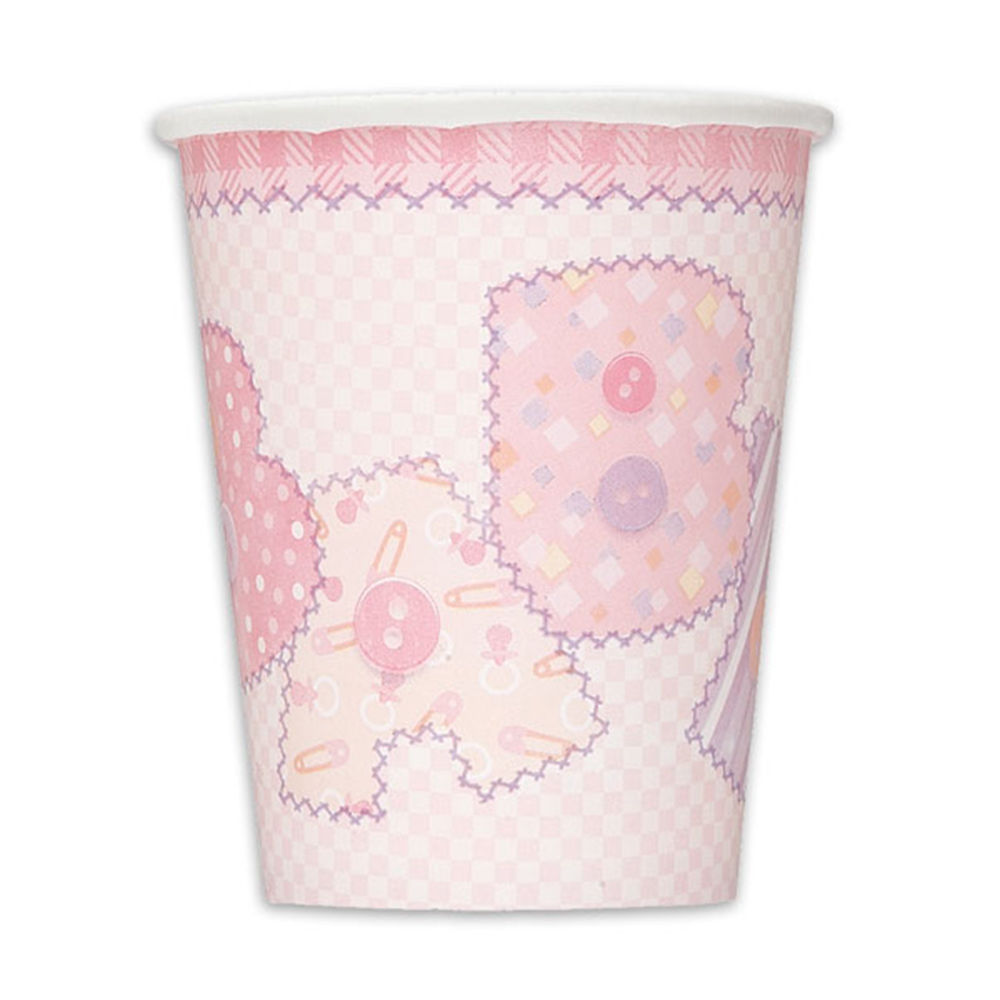 Baby Pink Stitching Paper Cups