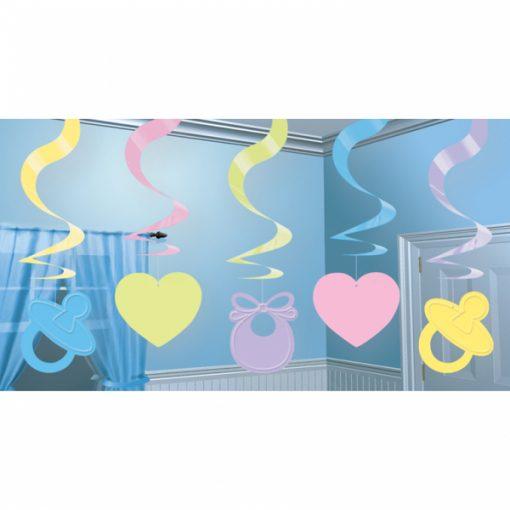 Baby Shower Hanging Swirl Decoration