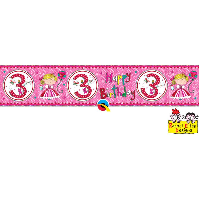 Rachel Ellen Banner Age 3 Princess