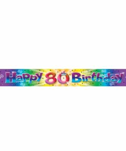Happy 80 Birthday Banner