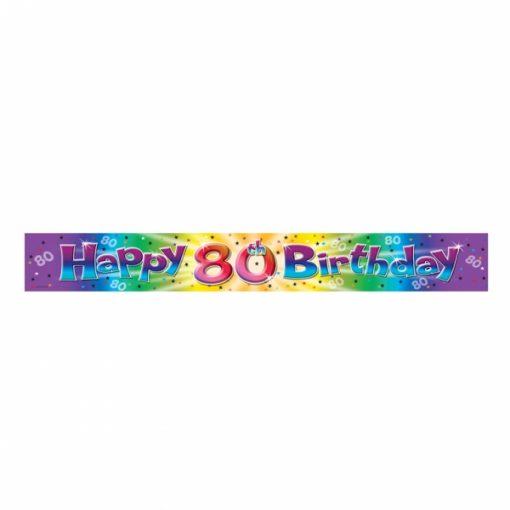Happy 80 Birthday Banner