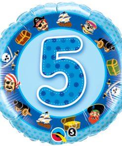"""18"""" Age 5 Blue Pirates Foil"""