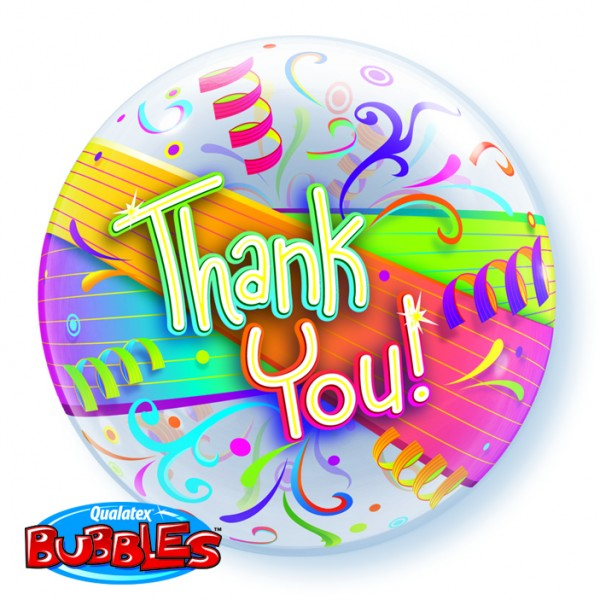 "22"" Thank You Streamers Single Bubble"