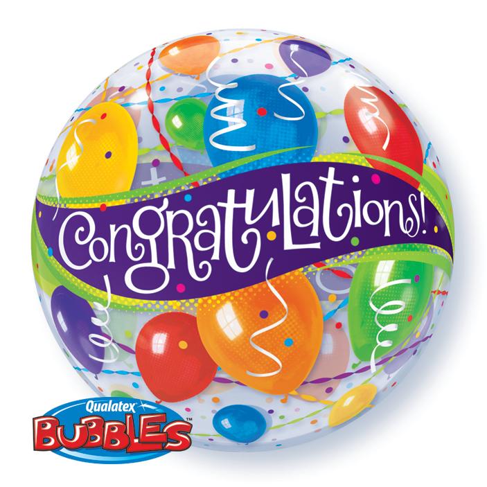 """22"""" Congratulations Balloons Single Bubble"""