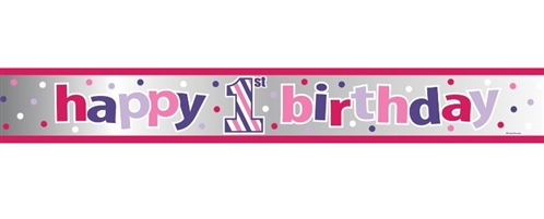 Sweet Stripes Girl Banner