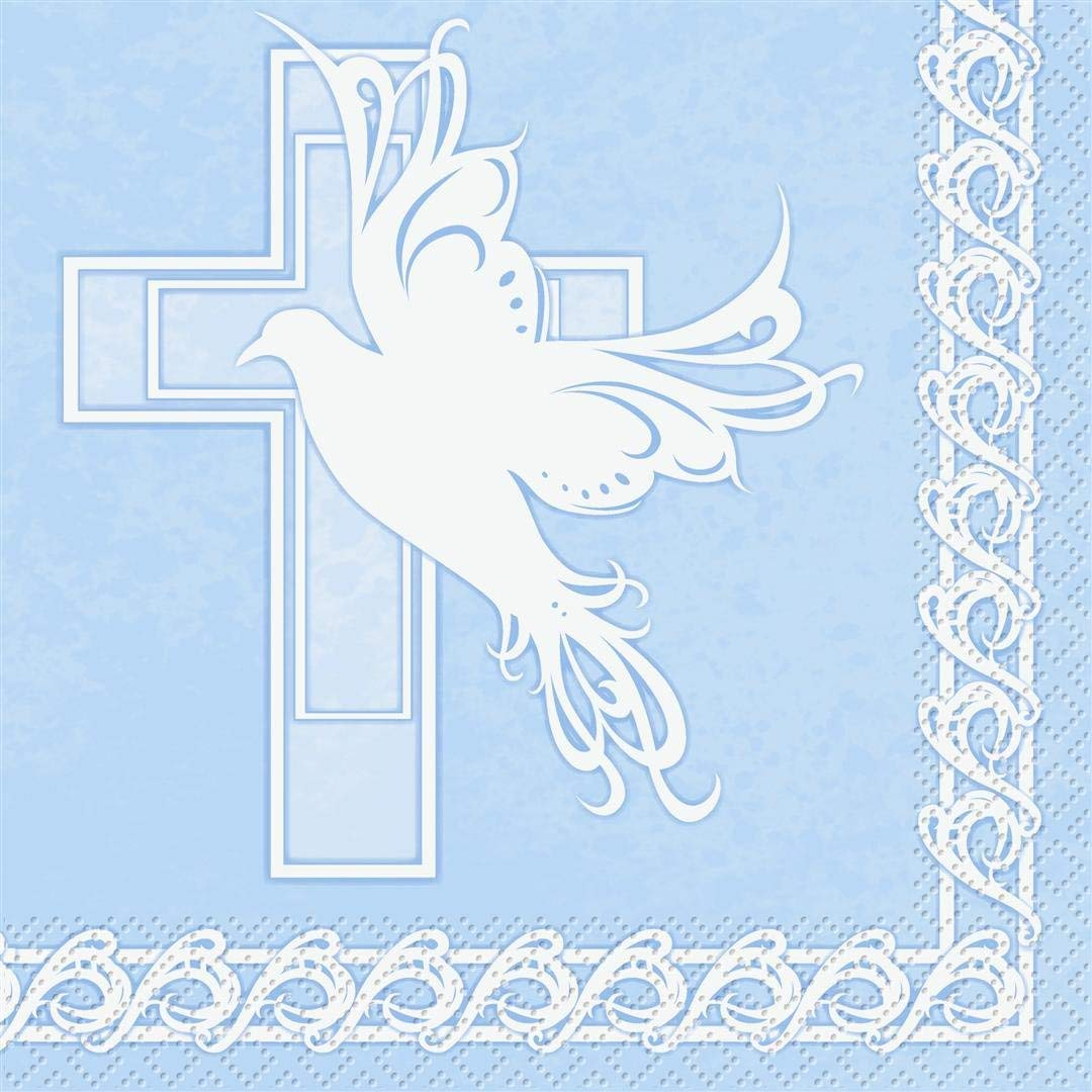Dove Cross Blue Luncheon Napkins