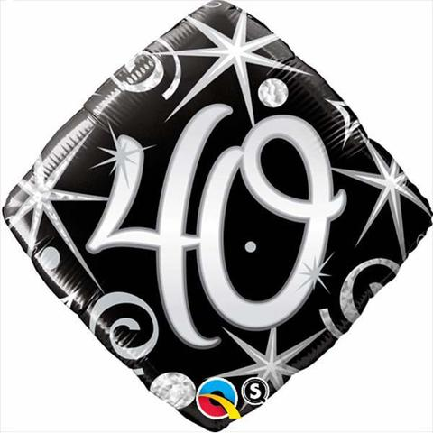 "18"" 40 Elegant Sparkles & Swirls foil"
