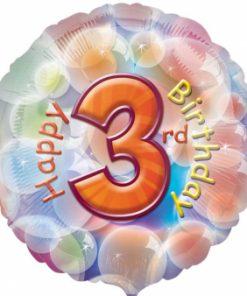 "17"" Happy 3rd Birthday Foil"