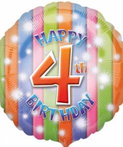 """17"""" Happy 4th Birthday Foil"""
