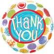"""18"""" Thank You Patterned Dots Foil"""