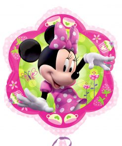 "18"" Minnie Mouse Pink Flower Junior Shape Foil"