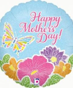 "18"" Pastel Butterfly Mother's Day Foil"