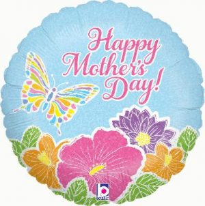 """18"""" Pastel Butterfly Mother's Day Foil"""