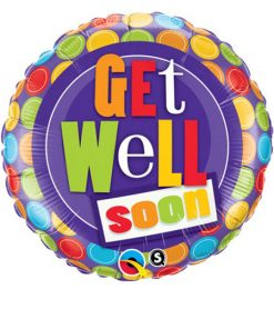 "18"" Get Well Dot Patterns Foil"