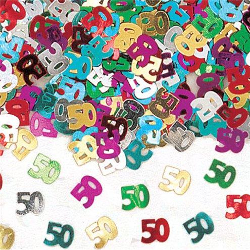 Numeral 50 Multi Confetti