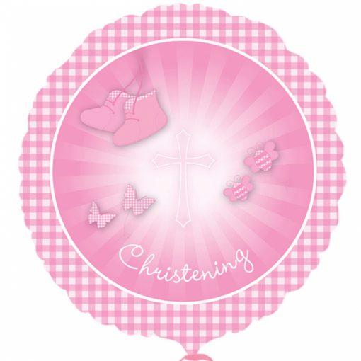 "18"" Christening Booties Pink Foil"