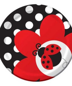 Ladybug Fancy Dessert Paper Plates
