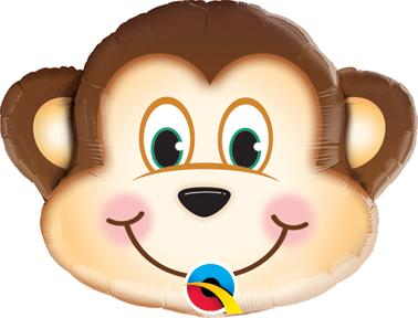 "14"" Air-fill Shape Mischievous Monkey Foil"