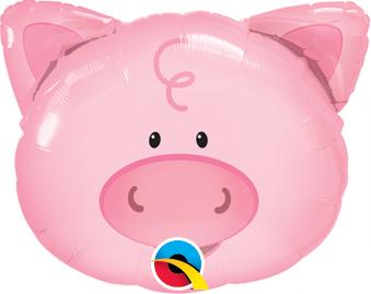 """14"""" Air-fill Shape Playful Pig Foil"""