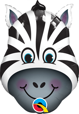 "14"" Air-fill Shape Zany Zebra Foil"