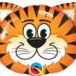 "14"" Air-fill Shape Tickled Tiger Foil"